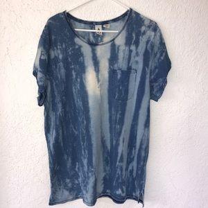 Blue Long T-Shirt